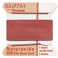 2M Griffin Silk Cord 0.6mm Coral Size 04
